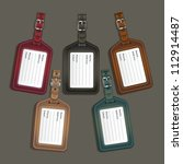 Leather Luggage Tags Labels....