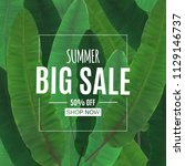 abstract summer sale background ... | Shutterstock .eps vector #1129146737