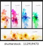 set of abstract cards with... | Shutterstock .eps vector #112919473