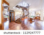 stairs design in the interior... | Shutterstock . vector #1129247777