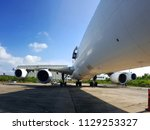 wide angle photography of jet... | Shutterstock . vector #1129253327