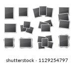 realistic blank snapshot frames ...   Shutterstock .eps vector #1129254797