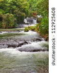Jamaica. Dunn's River waterfalls - stock photo