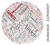 vector conceptual depression or ...   Shutterstock .eps vector #1129262027