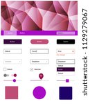 light pink  red vector web ui...