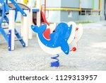 children's playground in... | Shutterstock . vector #1129313957