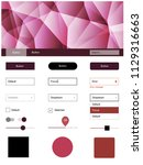 light pink  red vector material ...