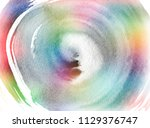 circle grunge doodle. rainbow... | Shutterstock . vector #1129376747
