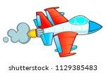 jet fighter isolated on white.... | Shutterstock .eps vector #1129385483