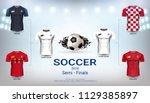 semi finals wall chart of... | Shutterstock .eps vector #1129385897