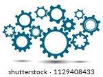 group gears  concept teamwork ... | Shutterstock .eps vector #1129408433