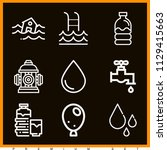 set of 9 water outline icons... | Shutterstock .eps vector #1129415663