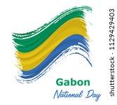 17 august  gabon independence... | Shutterstock .eps vector #1129429403
