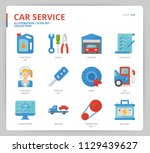 car service icon set | Shutterstock .eps vector #1129439627