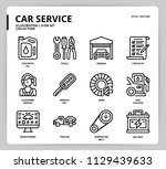 car service icon set | Shutterstock .eps vector #1129439633