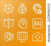 interface icon set   outline... | Shutterstock .eps vector #1129456313