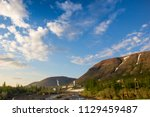 tundra and mountains of... | Shutterstock . vector #1129459487