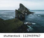 abstract rock formations and an ... | Shutterstock . vector #1129459967
