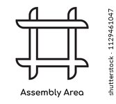 assembly area icon vector... | Shutterstock .eps vector #1129461047