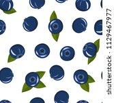seamless pattern   blueberry... | Shutterstock .eps vector #1129467977
