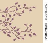 ivy vine silhouette vector ...   Shutterstock .eps vector #1129468847