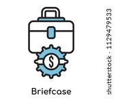 briefcase icon vector isolated...   Shutterstock .eps vector #1129479533