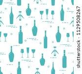 seamless pattern of wine... | Shutterstock .eps vector #1129508267