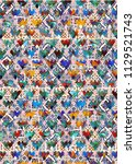 abstract colorful checkered...   Shutterstock . vector #1129521743