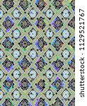 abstract colorful checkered...   Shutterstock . vector #1129521767