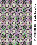 abstract colorful checkered...   Shutterstock . vector #1129521773