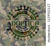 adoption camouflaged emblem | Shutterstock .eps vector #1129532117