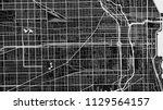 black white map city chicago | Shutterstock .eps vector #1129564157