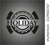 holiday black emblem. vintage. | Shutterstock .eps vector #1129602767