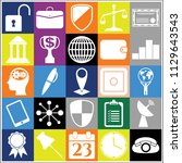 set of 25 business icons.... | Shutterstock .eps vector #1129643543
