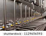 stainless steel tube fitting ... | Shutterstock . vector #1129656593