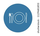a plate and a serving icon.... | Shutterstock .eps vector #1129681853