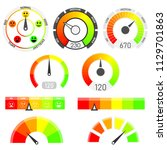credit score indicators with... | Shutterstock .eps vector #1129701863