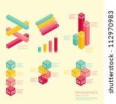modern soft color graph design  ... | Shutterstock .eps vector #112970983