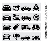 auto business icons | Shutterstock .eps vector #112971187