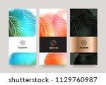 vector set packaging templates... | Shutterstock .eps vector #1129760987