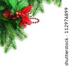 Christmas fir twig - stock photo