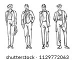 fashion man. set of fashionable ... | Shutterstock .eps vector #1129772063