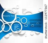 eps10 vector overlapping... | Shutterstock .eps vector #112977367