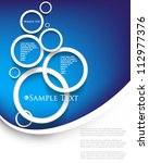 eps10 vector overlapping circles concept background - stock vector