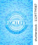 facility realistic light blue...   Shutterstock .eps vector #1129779587