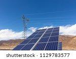 a solar power station under... | Shutterstock . vector #1129783577