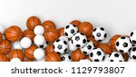 basketball  volleyball and... | Shutterstock . vector #1129793807