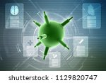 3d rendering viruses in... | Shutterstock . vector #1129820747