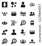 set of vector isolated black... | Shutterstock .eps vector #1129844057