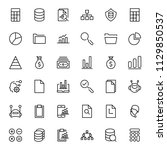 statistics icon set. collection ... | Shutterstock .eps vector #1129850537